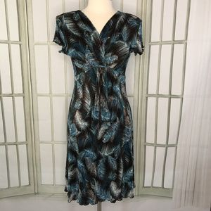 Connected Dress Soft Accordion Empire Waist